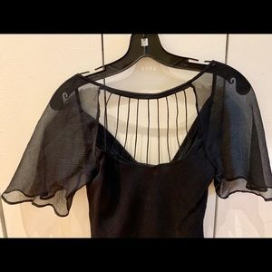 Silk Catherine Malandrino black top size Petite